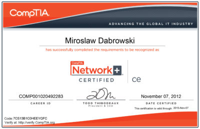 CompTIA Network+ ce