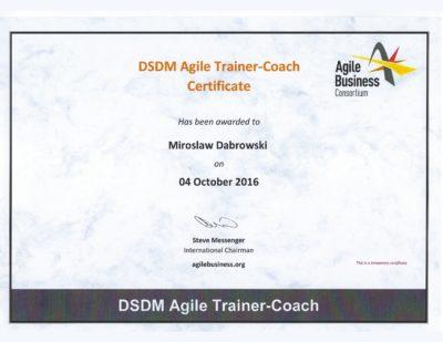 DSDM Agile Trainer-Coach