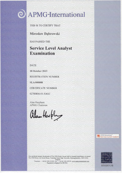 Service Level Analyst