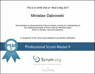 PSM II - Professional Scrum Master II