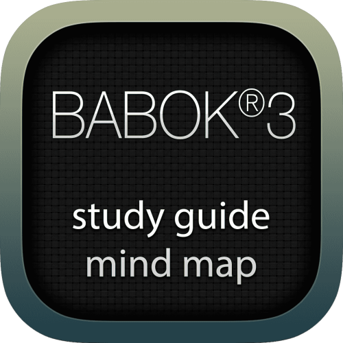 Business Analysis Body of Knowledge 3 (BABOK3) interactive study guide mind map logo