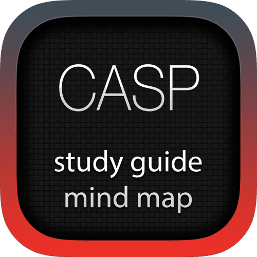 CompTIA Advanced Security Practitioner (CASP) interactive study guide mind map logo