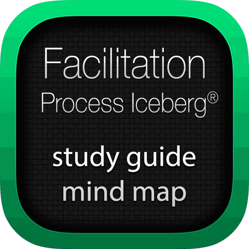 Facilitation Process Iceberg interactive study guide mind map logo
