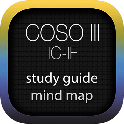 COSO - Internal Control (IC) Integrated Framework (IF) interactive study guide mind map logo
