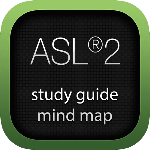 Application Services Library 2 (ASL2) interactive study guide mind map logo