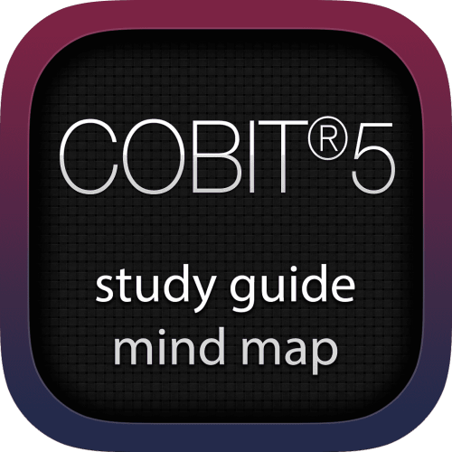 Control Objectives for Information and related Technology 5 (COBIT5) interactive study guide mind map logo