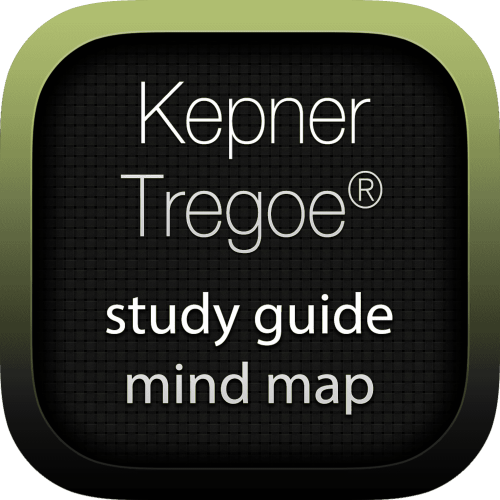 Kepner-Tregoe interactive study guide mind map logo