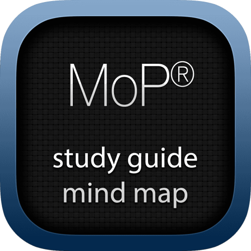 Management of Portfolios (MoP) interactive study guide mind map logo