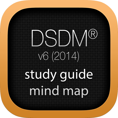 DSDM Agile Project Framework (AgilePF) interactive study guide mind map logo