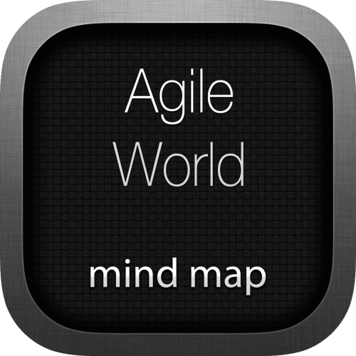 Agile World interactive mind map logo