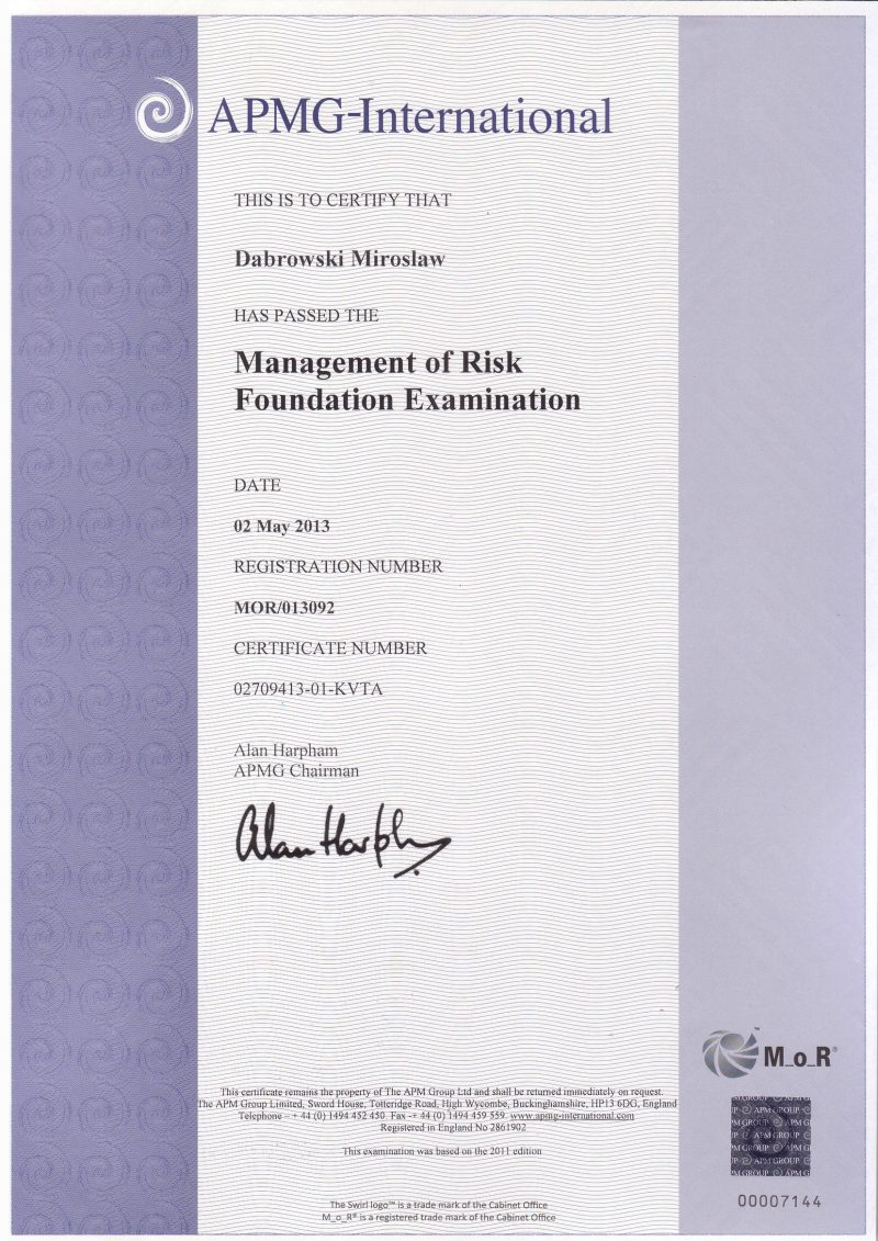 Management of Risk (M_o_R) Foundation
