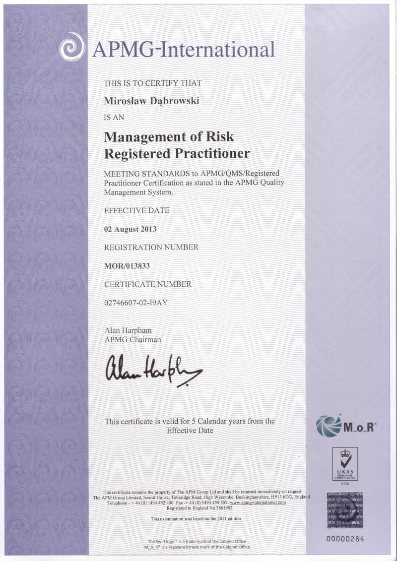 Management of Risk (M_o_R) Practitioner