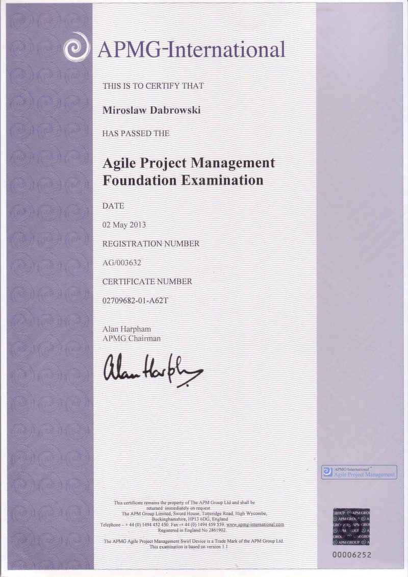 Agile Project Management (AgilePM) Foundation
