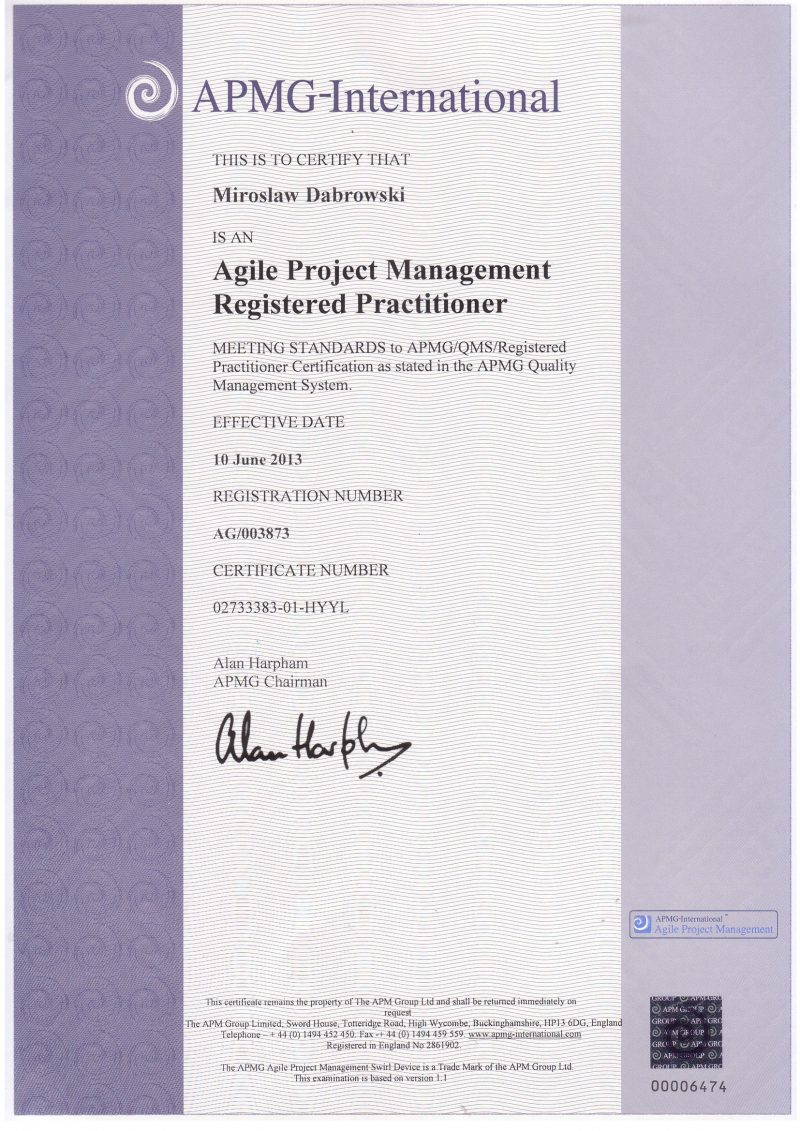 Agile Project Management (AgilePM) Practitioner
