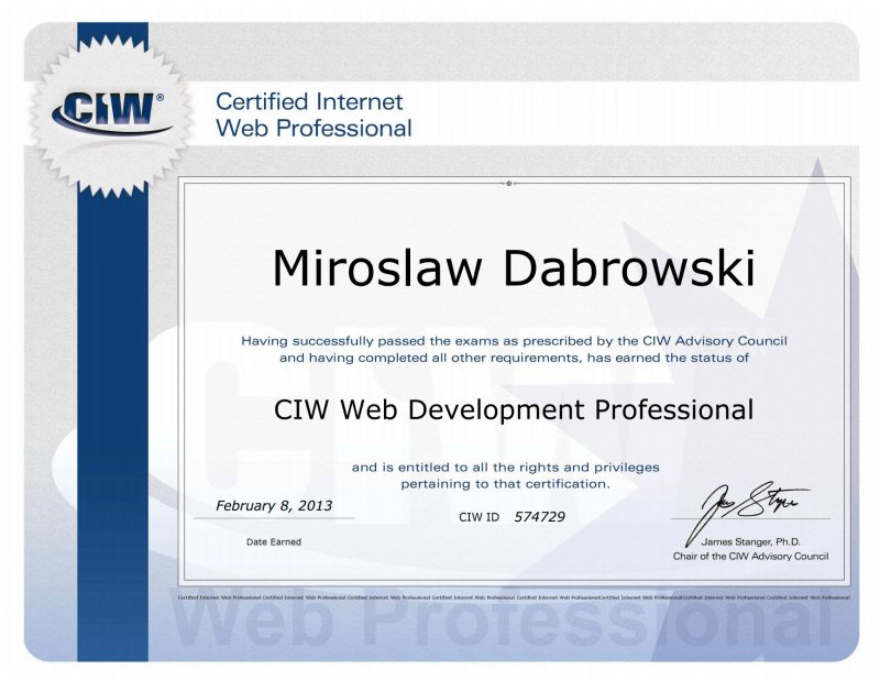 Web Development Professional