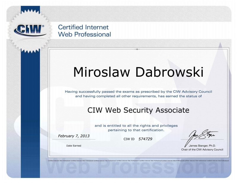 Web Security Associate