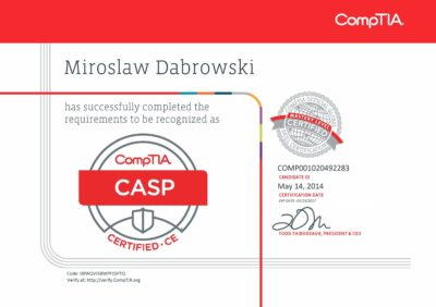 CompTIA CASP - CompTIA Advanced Security Practitioner ce