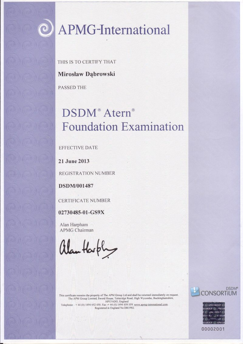 DSDM Atern Foundation