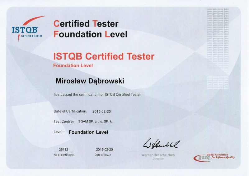ISTQB - Foundation