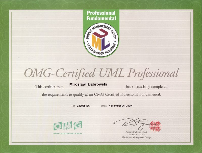 OCUPF - OMG Certified UML Professional - Fundamental