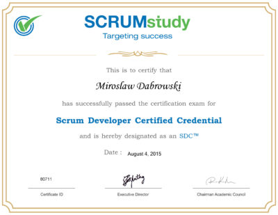SDC - Scrum Developer Certified