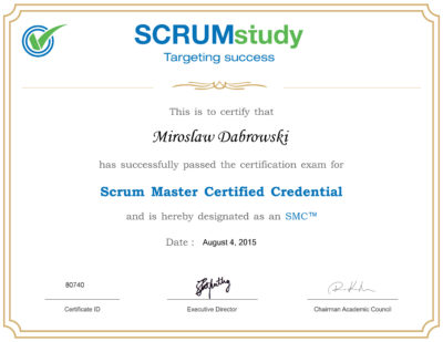 SMC - Scrum Master Certified