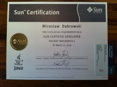 Sun Certified Developer for Java Web Servies (SCDJWS)