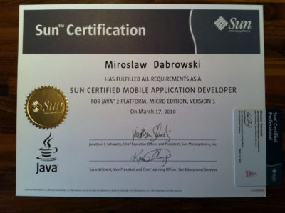 Sun Certified Mobile Application Developer (SCMAD)