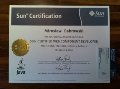 Sun Certified Web Component Developer (SCWCD)