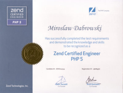 Zend Certified Engineer PHP 5