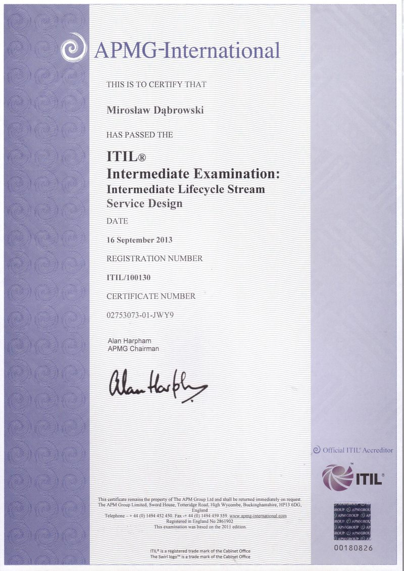 ITIL Intermediate - Service Design