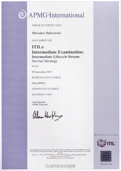 ITIL Intermediate - Service Strategy