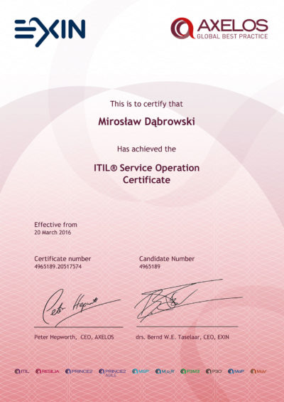 ITIL Intermediate - Service Operation
