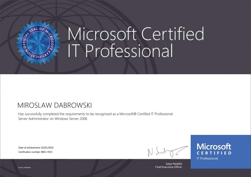 Microsoft-Certified-IT-Professional-(MCITP)-Server-Administrator-WS2008