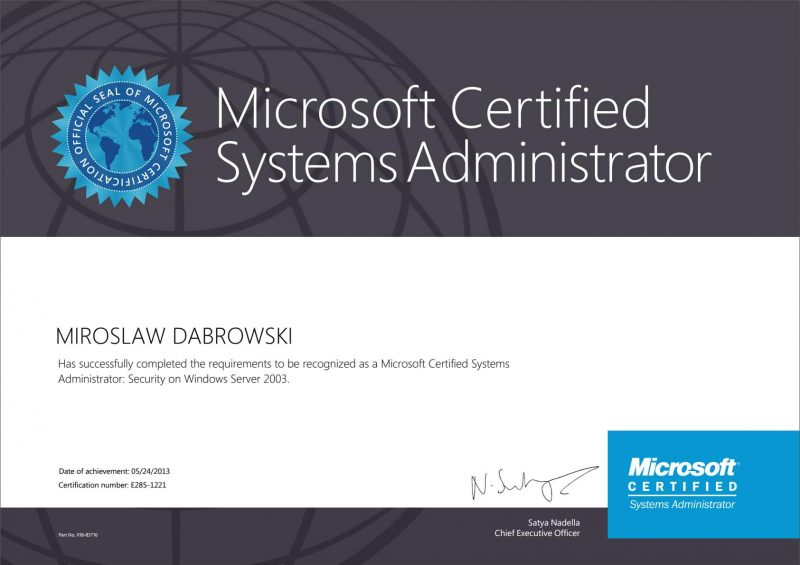 Microsoft-Certified-Systems-Administrator---Security-(MCSA-S)-WS2003