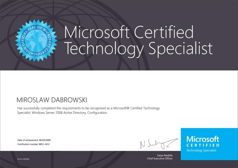 Microsoft-Certified-Technology-Specialist-(MCTS)-WS2008-Active-Directory
