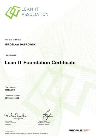 LITA - Lean IT Foundation