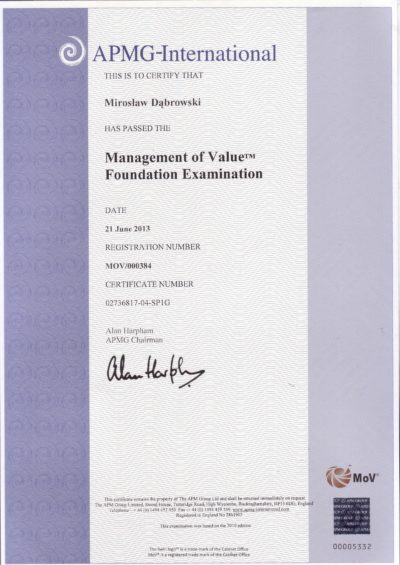 Management of Value (MoV) Foundation