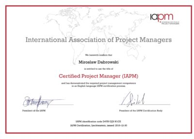 CPM - Certified Project Manager