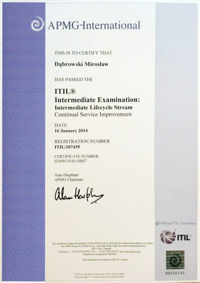 ITIL Intermediate - Continual Service Improvement (CSI)