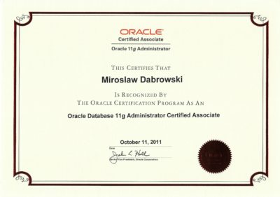 Oracle Certified Associate, Oracle Database 11g Administrator