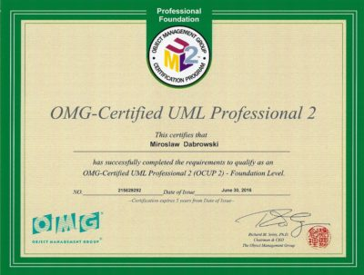 OCUPF2 - OMG Certified UML 2 Professional - Fundamental