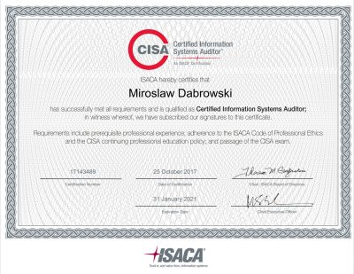 CISA - Certified Information Systems Auditor